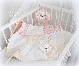 Textil - Sada Deka 70x90cm a zajko s hrkálkou - 7372033_