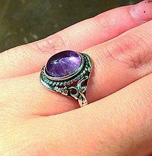 Prstene - Antique Amethyst Silver 925 / Strieborný prsteň s ametystom - 7370610_