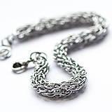 Náramky - Spletenec stříbrný - náramok - 7370329_