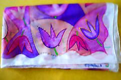 Šatky - hodvábna šatka Tulipániky - 7367941_
