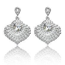 Náušnice - svadobné náušnice NEVESTA (Crystal - Ag 925) - 7368653_