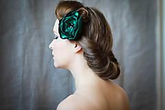 Ozdoby do vlasov - Smaragdová kvetinka - 7370976_
