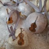 Dekorácie - Vianočné gule - hudba - 7368241_