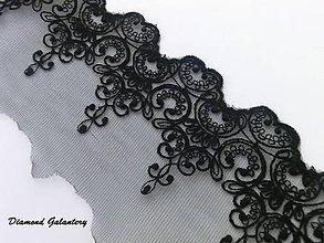 Galantéria - Čipka čierna 100 mm - cena za 10 cm - 7370823_