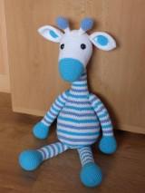 Hračky - Háčkovaná žirafka - 7371859_