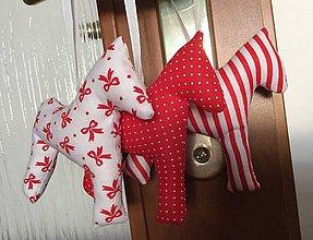 Dekorácie - Vianočné ozdoby - koníky - 7370740_