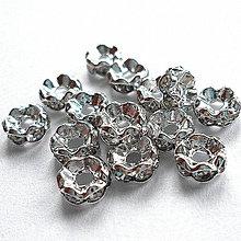 Korálky - Šaton.rondelka-1ks (5mm-wave-strieb/krystal) - 7368148_