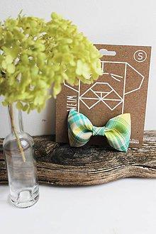 Pre zvieratká - Motýlik - na obojok pre psíka - zelený Vincent - 7369658_