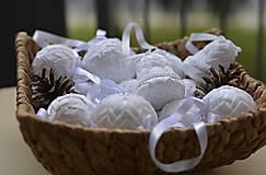 Dekorácie - Vianočné gule set Snehurka  - 7370414_