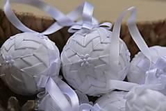 Dekorácie - Vianočné gule set Snehurka  - 7370416_