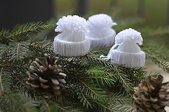Dekorácie - Vianočné čapice - 7369945_