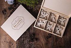 Dekorácie - Vianočné ozdoby z dreva - KOLEKCIA ANJEL - 7370885_