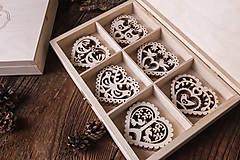 Dekorácie - Vianočné ozdoby z dreva - KOLEKCIA FOLK - 7370899_