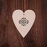 Dekorácie - Drevené srdce - vzor 3 - 7371992_