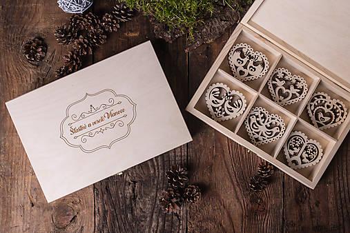Dekorácie - Vianočné ozdoby z dreva - KOLEKCIA FOLK - 7370902_