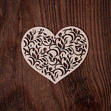 Dekorácie - Drevené srdce - vzor 2 - 7371972_