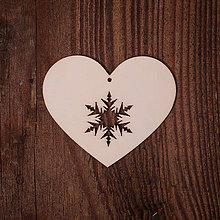 Dekorácie - Drevené srdce - vzor 3 - 7372022_