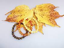 jesenné náramky - sada kalcit, tigrie oko, karneol náramok