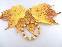 kalcit karneol náramok jesenný