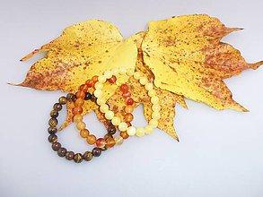 Náramky - jesenné náramky - sada kalcit, tigrie oko, karneol náramok - 7368122_