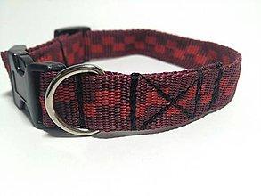 Pre zvieratá - Obojok Small Square Red - 7369239_