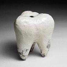 Dekorácie - Váza v tvare zubu - 7369331_