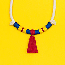 Náhrdelníky - Lanový strapcový náhrdelník •• - 7369884_
