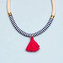 Náhrdelníky - Zľava 50%: Kožený náhrdelník •• - 7370960_
