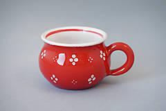Nádoby - Buclák espresso 4puntík 5 červený - 7371666_