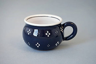 Nádoby - Buclák espresso 4puntík 5 černý (temněmodrý) - 7371658_