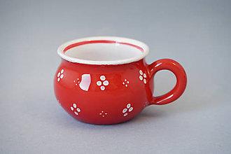Nádoby - Buclák 5 espresso 4puntík - červený - 7371666_