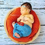 Detské oblečenie - Modré gaťuše - 7367913_