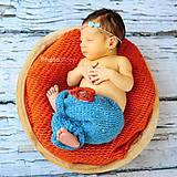 Detské doplnky - Oranžová pletená podložka - 7367953_