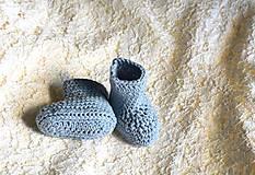 Topánočky - Bledomodré papučky EXTRA FINE - 7370167_