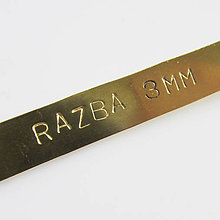 Iné šperky - Ražba (ABC 123 / 3mm) - 7368609_