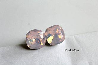 Šperky - Manžetové gombíky Square Frozen Rosaline - 7371882_