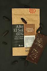Potraviny - BIO Horká čokoláda 65% s tonkovými bôbami z Brazílie - 7369543_