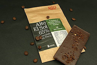 Potraviny - BIO Horká čokoláda 65% s čerstvo praženou kávou z Brazílie - 7369501_
