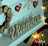 Dekorácie - Stojaci nápis Vianoce - 7376941_