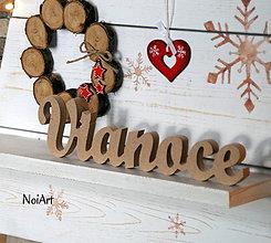 Dekorácie - Stojaci nápis Vianoce - 7376939_