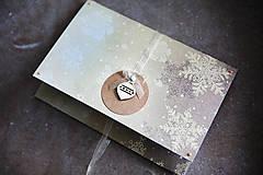 - Scrapbook obálka na peniaze - vianočná - 7377155_