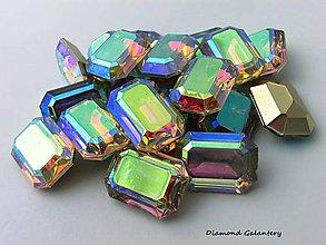 Galantéria - Ozdobné kamienky 13x18 mm - Multicolor - 7376059_