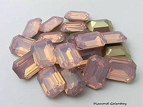 Galantéria - Ozdobné kamienky 13x18 mm - Svetlo ružové - 7376108_