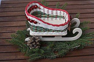 Dekorácie - Vianočné sane menšie - 7375400_