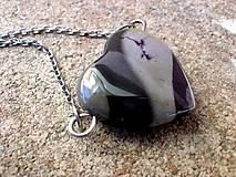 Náhrdelníky - náhrdelník - srdce z Jaspisu pruhovaného - 7374763_