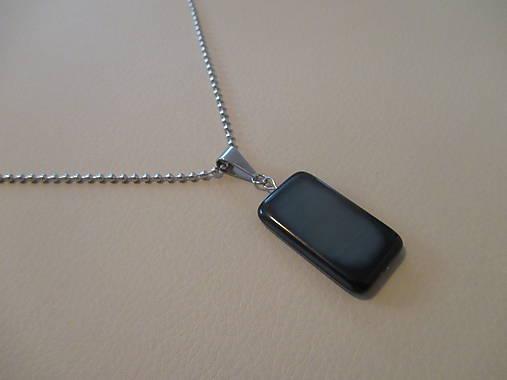 b8a6cc889 Pánsky náhrdelník s veľkým skleneným príveskom-chirurgická oceľ ...