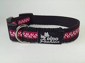 Pre zvieratká - Obojok Pink rings - 7373115_
