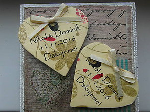 Darčeky pre svadobčanov - jesenné svadobné magnetky - 7376972_