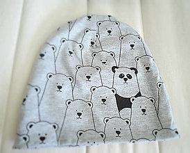 Detské čiapky - Kto nájde pandu? - 7377234_