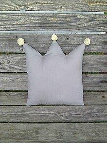 Textil - sivá korunka - 7373133_